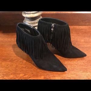 Sam Edelman Shoes - Sexy Sam Edelman suede black fringe booties